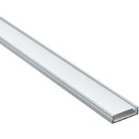 """Профиль алюминиевый """"накладной"""" широкий , серебро, CAB263, Feron 2 метра."""