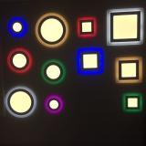 Светодиодные светильники c цветной подсветкой