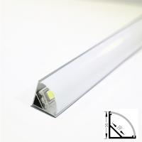 Профиль угловой аллюминиевый  NUGL 16х16 с овальным рассеивателем