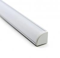 Профиль угловой алюминиевый серебристый с экраном 1616анодированный, длина 2 метра