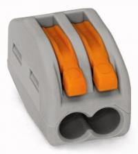 Клеммник WAGO 2 (одножильных или многожильных) х 0,08-4мм2 32A Cu